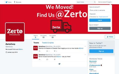 ZertoCorp (@ZertoCorp) | Twitter