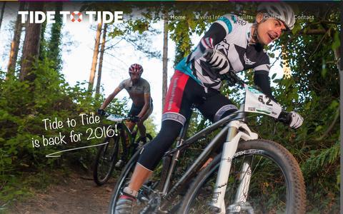Screenshot of Home Page tide2tide.co.uk - Home - Tide to Tide - captured Dec. 30, 2016