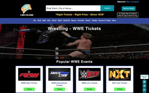 Buy Sports tickets at SelectATicket.com Wrestling WWE