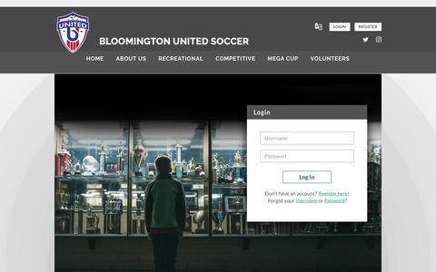 Screenshot of Login Page bluesombrero.com - Login/Register - captured Oct. 31, 2018