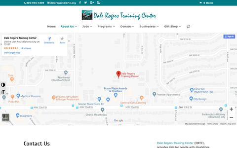 Screenshot of Contact Page drtc.org - Contact Us   Dale Rogers Training Center - captured Oct. 7, 2018
