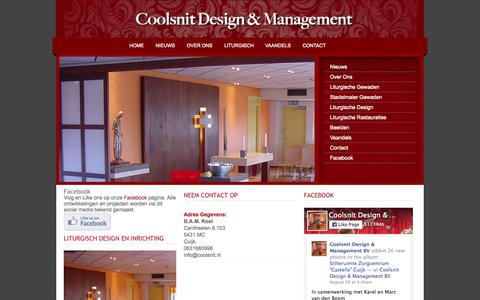 Screenshot of Home Page coolsnit.nl - Coolsnit Liturgisch design en management - captured Sept. 18, 2015