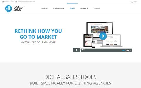 Screenshot of Services Page yourlightingbrand.com - Your Lighting Brand  | Agency - captured July 8, 2016