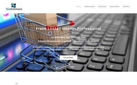 Screenshot of Home Page stoolcommerce.nl - Stool Commerce Interim Management - E-Commerce Interim Manager / Freelance / ZZP - captured Dec. 15, 2016