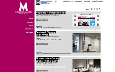 Screenshot of Press Page mobilificiomarchese.it - Marchese - captured Oct. 9, 2014