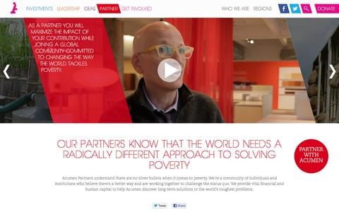 Screenshot of acumen.org - Acumen Partners Believe in a Different Approach to Solving Poverty - captured March 20, 2016