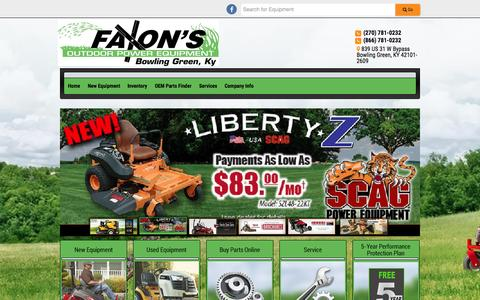 Screenshot of Home Page faxonpower.com - Faxon's Outdoor Power Equipment: Quality outdoor power products and service in Bowling Green, KY Faxon's Outdoor Power Equipment Bowling Green, KY (866) 781-0232 - captured June 17, 2015