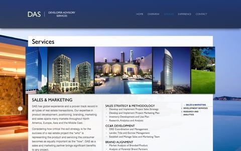 Screenshot of Services Page daspacific.com - Services :: DAS - captured Oct. 5, 2014