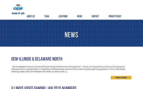 Screenshot of Press Page gemgaming.com - News - captured Sept. 24, 2018