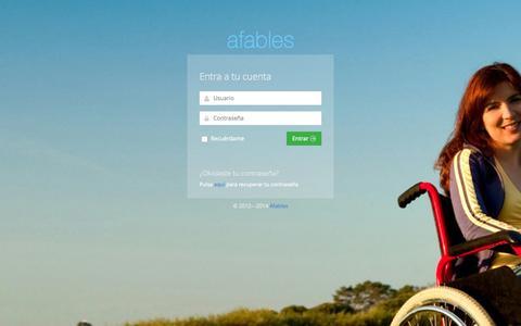 Screenshot of Login Page afables.com - Login   Afables - captured Sept. 30, 2014
