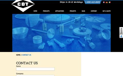 Screenshot of Contact Page cdtusa.net - Contact Us - Continental Diamond Tool - captured Oct. 3, 2014