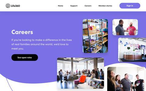 Screenshot of Jobs Page life360.com - Careers – Life360 - captured May 8, 2019