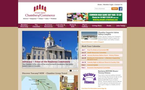 Screenshot of Home Page gschamber.com - Greater Salem Chamber of Commerce - Home - captured Jan. 23, 2015