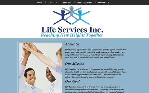 Screenshot of About Page lifeservicesinc.co - lifeservices | ABOUT US - captured May 18, 2017