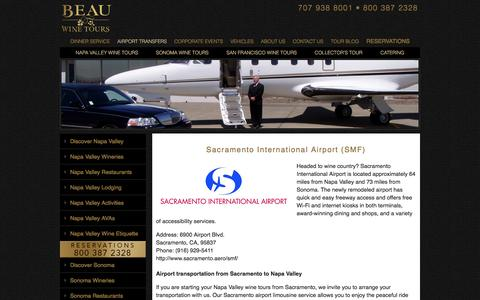 Transportation from Sacramento Airport to Napa Valley or Sonoma