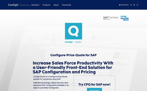 CPQ for SAP: Configit — Quote