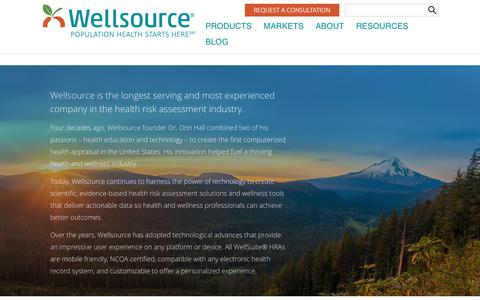 Screenshot of About Page wellsource.com - About - Wellsource - captured Feb. 16, 2019