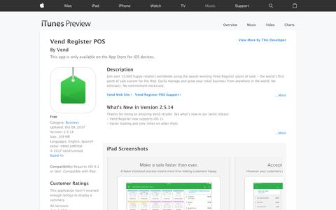 Vend Register POS on the App Store