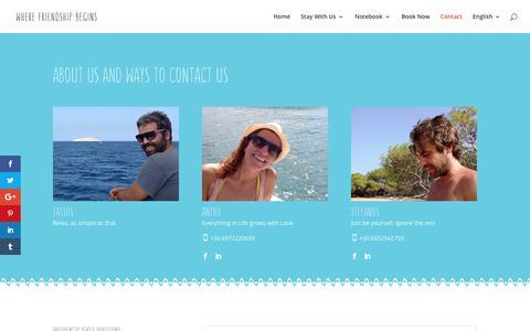 Screenshot of Contact Page arokaria.gr - Contact - Arokaria | Accommodation in Paros - captured Nov. 21, 2016