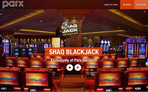 Screenshot of Home Page parxcasino.com - Parx Casino® | Philadelphia Casino, Racing, Entertainment, and Nightlife | #1 Casino in Pennsylvania - captured Nov. 5, 2015