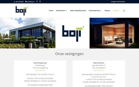 Screenshot of Contact Page boji.nl - Contact - Boji - captured Nov. 23, 2016