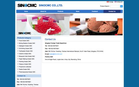 Screenshot of Contact Page sino-cmc.com - Contact Us - captured Feb. 2, 2016