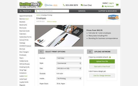 Envelope Printing - 5x7, 4x6, #10, #9, A2, A6 | NextDayFlyers