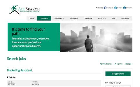 Screenshot of Jobs Page allsearchinc.com captured Nov. 7, 2016