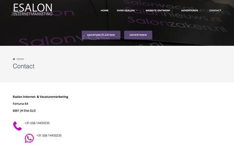 Contact – ESALON Internetmarketing