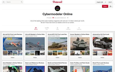 Screenshot of Pinterest Page pinterest.com - Cybermodeler Online on Pinterest - captured Nov. 2, 2014