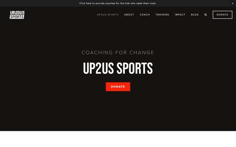 Screenshot of Home Page up2us.org - Up2Us Sports - captured Sept. 20, 2018