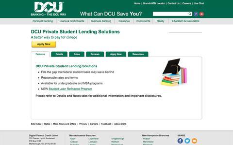 Private Student Loans | DCU | Massachusetts | New Hampshire