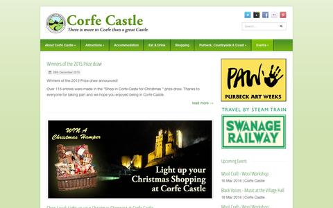 Screenshot of Press Page corfe-castle.co.uk - News - Corfe Castle - captured March 10, 2016