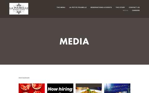 Screenshot of Press Page lapoubellebistro.com - Media — La Poubelle Bistro & Bar - Hollywood - Los Angeles, California - captured Sept. 26, 2018