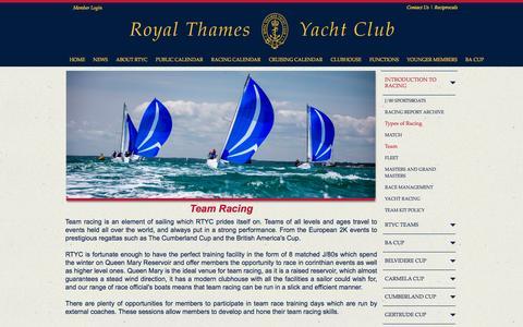 Screenshot of Team Page royalthames.com - Royal Thames Yacht Club - Knightsbridge, London - Team - captured March 26, 2017