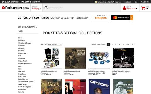 Box Sets, Country & Rock - Rakuten.com