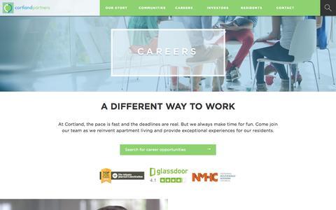Screenshot of Jobs Page cortlandpartners.com - Careers - Cortland Partners - captured Jan. 3, 2017