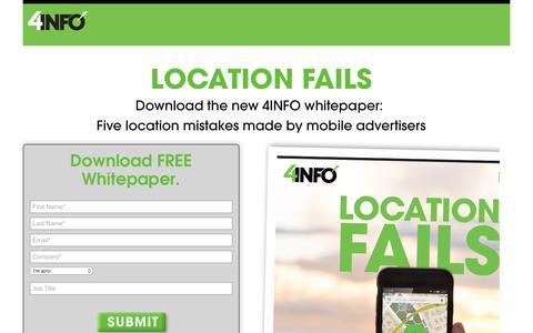 Location Fails