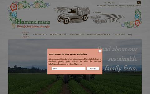 Screenshot of Home Page hammelmans.com - Home Page - captured Sept. 27, 2018