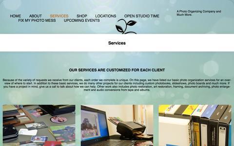 Screenshot of Services Page pixologieinc.com - Photo Organization Services Pixologie Offers - Each client is unique - captured May 18, 2017