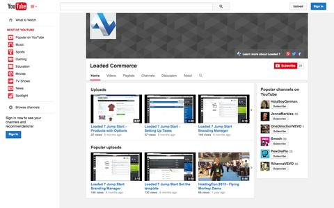 Screenshot of YouTube Page youtube.com - Loaded Commerce  - YouTube - captured Oct. 22, 2014