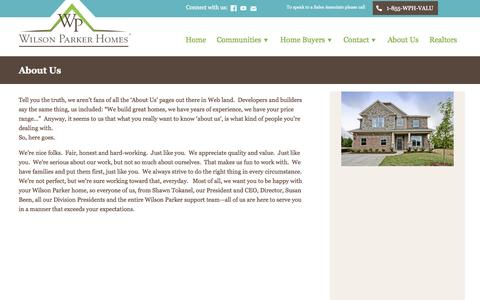 Screenshot of About Page wilsonparkerhomes.com - About Us | Wilson Parker Homes - captured Oct. 26, 2014