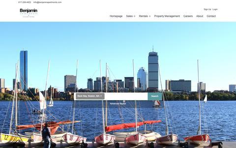 Screenshot of Home Page benjaminapartments.com - Benjamin Apartments  Cityside Homes in Greater Boston, MA - captured Dec. 9, 2018
