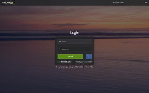 Screenshot of Login Page smugmug.com - Photo Sharing. Your Photos Look Better Here. - captured Jan. 9, 2016