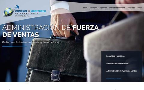 Screenshot of Home Page controlymonitoreo.com - Control y Monitoreo Internacional » Control y Monitoreo Internacional - captured Jan. 30, 2016