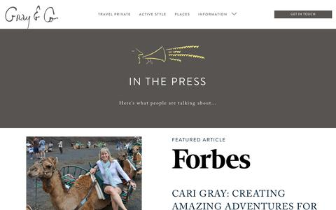 Screenshot of Press Page grayandco.ca - Press Archive — gray and co - captured Nov. 11, 2018