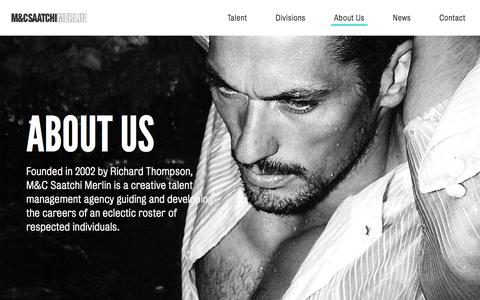 Screenshot of About Page mcsaatchimerlin.com - About M&C Saatchi Merlin - Creative Talent Management - captured Jan. 29, 2018