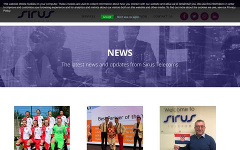 Screenshot of Press Page sirus-telecom.co.uk - News - Sirus Telecoms - captured Nov. 16, 2018