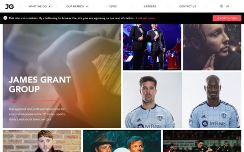 Screenshot of Home Page jamesgrant.com - James Grant Group - captured Nov. 18, 2016