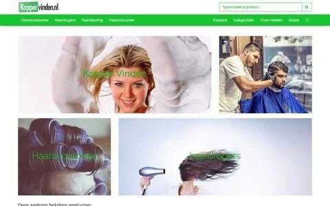 Screenshot of Home Page kappervinden.nl - Kappervinden.nl - Alle kappers van Nederland! - captured Oct. 7, 2017